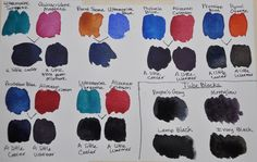 how to mix a dark navy blue with watercolors - Google Search