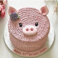 to Choose Baby Shower Lamb Cake Ideas - Baby Cakes, Cupcake Cakes, Pig Cupcakes, Beautiful Cakes, Amazing Cakes, Piggy Cake, Lamb Cake, Pig Birthday, Cute Cakes