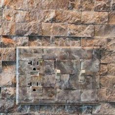 Camouflage your switch plate and outlet cover with DIY faux finish.  A LOT OF CLEVER IDEAS ON THIS LINK!!!