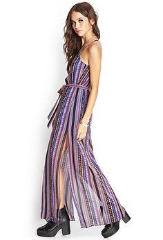 $19.80, Southwestern Print Maxi Dress | FOREVER21 - 2000068011