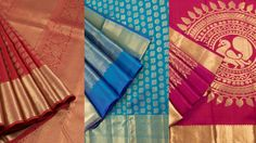 Exquisiteness sometimes is derived from the contrast of two very exotic colours. Such contrasting colours bring some freshness into every room you walk into and bound to brighten up any day. When you bring two colours together on yards of Kanchipuram silk, the result is a saree that is stunning, classic and sure to uplift the positive energies of the wearer. Presenting 30 exquisite saree colo...