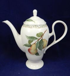 Noritake JAPAN Primachina Royal Orchard #9416 Tea/Coffee Pot & Lid DISCONTINUED