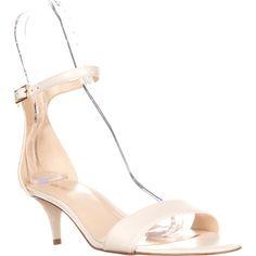 Nine West Leisa Ankle Strap Sandals, Off White, 7.5 US