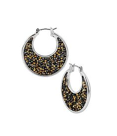 Kenneth Cole New York - TwoTone Faceted Bead Sculptural Hoop Earrings