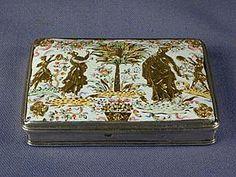 18th.century German silver mounted enamel box by Pierre Alexander Fromery, Berlin c.173...