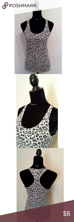 Victoria Secret PINK Leopard Racerback Sleep Tank * * * Good pre-owned condition! * * *   Women's  Victoria's Secret PINK Sleepwear  Racerback Tank Black and white Leopard print 60% Cotton / 40% Polyester  Size: Small Smoke and pet-free home PINK Victoria's Secret Intimates & Sleepwear Pajamas