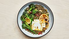 Lentils with Broccolini and Feta Recipe   Bon Appetit