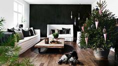 Ένα σπίτι στη Δανία με απλό Χριστουγεννιάτικο στολισμό