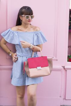 Pop of Pink..  #style #fashion #look #pink  www.meetmeinparee.com
