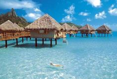 Bora Bora's on my long list of places I dream to visit, but will never be rich enough to do so