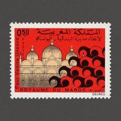 """UNESCO """"Save Venice"""" (1 of 3). Morocco, 1972. Design: Unknown. #graphilately #mnh #graphilately #mnh #graphimorocco"""