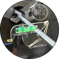 Quickly set your turning, boring & cutoff lathe tools on center. -Strong crystal clear Lucite construction allows viewing at any angle. -E asy view dual line green spirit level (extra length = higher precision). | eBay!