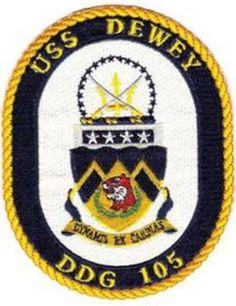 DDG-105 USS DEWEY GUIDED MISSILE DESTROYER SHIP CREST PATCH