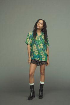 Fashion Killa, Look Fashion, Fashion Outfits, Look Street Style, Casual Street Style, Zoe Kravitz Style, Zoe Isabella Kravitz, Mode Hippie, Look Con Short