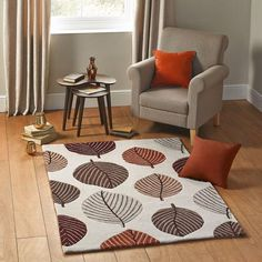 Wide range of Rugs available to buy today at Dunelm, the UK's largest homewares and soft furnishings store. Order now for a fast home delivery or reserve in store. Large Rugs, Modern Rugs, Soft Furnishings, Terracotta, Lounge, Leaves, Living Room, Bedroom, Ideas