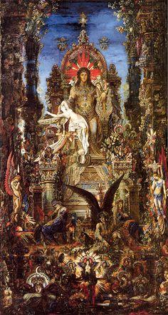 Gustave Moreau, Jupiter et Sémélé (1895), musée Gustave-Moreau, Paris. Art And Illustration, Art Français, Ouvrages D'art, Art Database, Gustav Klimt, Fine Art, French Art, Religious Art, Art History