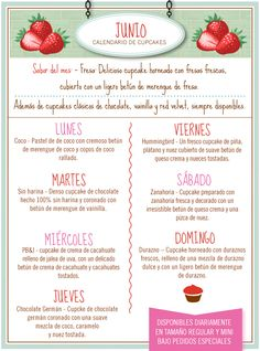 Nuestro sabor del mes es fresa - suave pastel horneado de fresa con un ligero betún de merengue de fresa ¡deli!