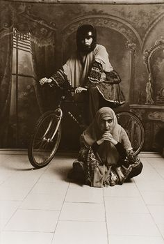 Shadi Ghadirian (Iran, born 1974)  Untitled (Qajar Series), 1998  Photograph, Silver promide print.  Purchased with funds provided by the Art of the Middle East Acquisition Fund, Art of the Middle East Deaccession Fund, the Ralph M. Parsons Fund, the Joan Palevsky Bequest by exchange, and Catherine Benkaim, with additional funds provided by Angella and David Nazarian (M.2008.35.23)  Art of the Middle East: Islamic Department. LACMA