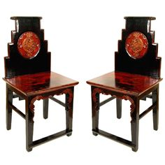 Pair of Chinese Chairs | From a unique collection of antique and modern chairs at https://www.1stdibs.com/furniture/seating/chairs/