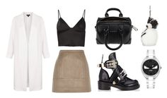 """""""Look:#115"""" by dollarwomanlux ❤ liked on Polyvore featuring River Island, T By Alexander Wang, Topshop, Balenciaga, Givenchy, Fendi, women's clothing, women's fashion, women and female"""
