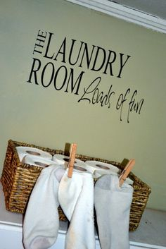 The Laundry Room Loads of Fun WALL DECAL by embellishboutiquellc, $11.00