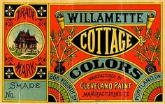Vintage Paint Can Labels | ... Paint Manufacturing Company, 1887 advertising paint can label