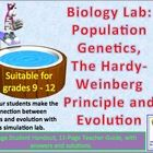 Hardy Weinberg, Population Genetics: A Lab Simulation.   Thanks to two brilliant scientists/mathematicians, we now have a mathematical model for detecting changes in the gene pool of a population.  German...