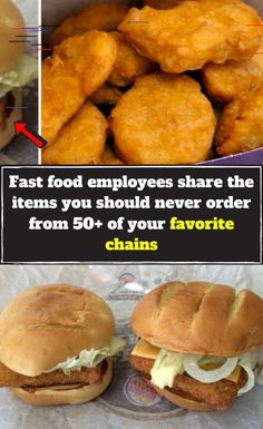 Fast food employees share the items you should never order from of your favorite chains Fast Food Restaurant, Restaurant Recipes, Menu Items, Food Items, Quiche, Remoulade, Cinnabon, Panera Bread, Breakfast Items