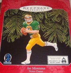 Hallmark Keepsake Joe Montana #03 Notre Dame Christmas Ornament - Issued in 1998