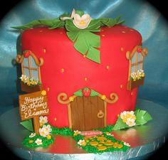 Strawberry shortcake cake by two parts sugar, via Flickr