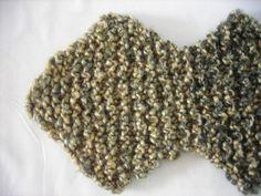 Knit Scarf Vegan Zig Zag Style by KneatKnitCreations on Etsy