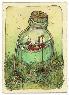nimasprout - Art by Nicole Gustafsson: Desert Bus for Hope!