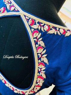 South Indian Blouse Designs, Best Blouse Designs, Silk Saree Blouse Designs, Saree Blouse Patterns, Blouse Neck Designs, Blouse Styles, Aari Work Blouse, Simple Sarees, Back Neck Designs