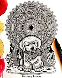 >Mandalas, Zentangles and Doodles. >Sketches of animals >Landscapes >Jewelry Designs Doodle Art Drawing, Mandala Drawing, Mandala Art, Mandala Tattoo, Mandala Design, Deviantart Drawings, Acrylic Painting Inspiration, Doodle Art Designs, Madhubani Art