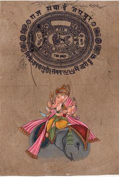 Ganesha Elephant Art Handmade Indian Miniature Ethnic Ganesh Hindu Folk Painting Ganesha Painting, Ganesha Art, Indian Artwork, Ganesha Pictures, Batik Art, Elephant Art, Painted Paper, Religious Art, Funny Art