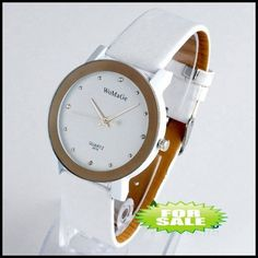 More watch faces to make watches Dropshipping 2011 new arrival fashional leather band diamond watch, good price quartz charm quartz watch, discount sales(China (Mainland))