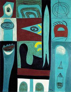 Adolph Gottlieb night voyage - Google Search Willem De Kooning, Mark Rothko, Jackson Pollock, Modern Art, Contemporary Art, Robert Rauschenberg, Art Students League, Art Deco, Freelance Illustrator