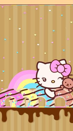Hello Kitty Backgrounds, Hello Kitty Wallpaper, Cute Wallpaper Backgrounds, Cute Wallpapers, Cute Rainbow Unicorn, Hello Sanrio, Hello Kitty Pictures, Sanrio Characters, Cute Cats