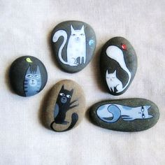 Pure stone painting cat in May personalized birthday gift on ...