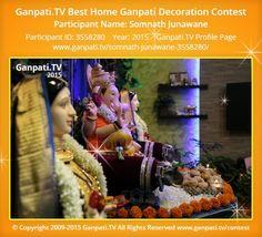 Decoration Pictures, Decorating With Pictures, Ganesh Chaturthi Decoration, Ganpati Festival, Ganpati Bappa, Festival Decorations, Picture Video, Tv, Television Set