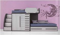 Dormitorio juvenil : camas literas / Youth bedroom bunk beds http://www.decorhaus.es/es/ #muebles #Málaga #furniture