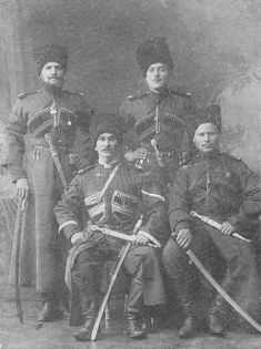 Imperial Russian Army - Cossacks each wearing 1910 model ...