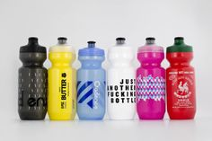 """reason to get a bottle cage: godandfamous x NNR """"just another fucking bottle"""" Bike Water Bottle, Water Bottle Design, Water Bottles, Track Cycling, Cycling Gear, Color Palate, Bike Run, Carbon Fiber, Cage"""