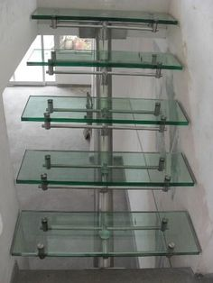 Staircase Interior Design, Staircase Railing Design, Stairs Architecture, Steel Stairs Design, Glass Office Doors, Canopy Glass, Townhouse Interior, Glass Stairs, Exterior Stairs