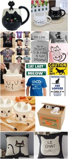 Cat Lovers Gift Gifts for the Cat Lovers in Your Life - cat gift ideas Cat Lover Gifts, Lovers Gift, Wall E, Crazy Cat Lady, Crazy Cats, I Love Cats, Cool Cats, Chat Kawaii, Cat Decor