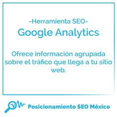 La herramienta #SEO de hoy es #Google #Analytics. Qué tanto sabes de su uso?  8-)