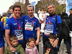 MEDIA MARATÓN DE MADRID (07/04/13). Con mis cuñados y mis dos hijos. #running