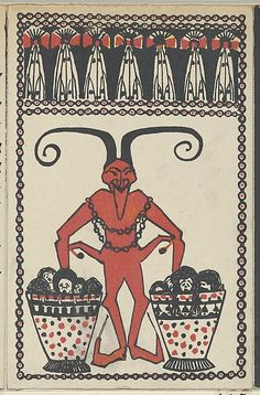 Dora Suppantschitsch. Krampus card, 1907. The Metropolitan Museum of Art, New York. Museum Accession, transferred from the Library (WW.103).  #krampus #christmas