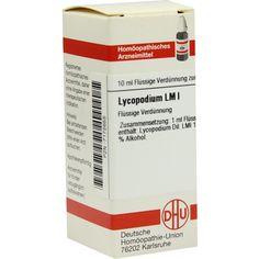 LM LYCOPODIUM I Dilution:   Packungsinhalt: 10 ml Dilution PZN: 07172655 Hersteller: DHU-Arzneimittel GmbH & Co. KG Preis: 7,97 EUR inkl.…