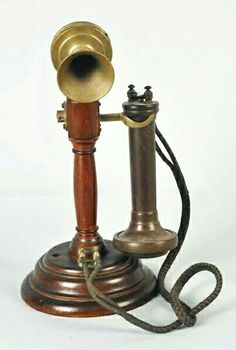 """Description Circa Faceplate reads """"Made in Sweden by ABLM Ericsson & Co. Antique Phone, Telephone Booth, Silver Candlesticks, Vintage Phones, Old Phone, Wooden Hearts, Portable, Wood Turning, Vintage Antiques"""